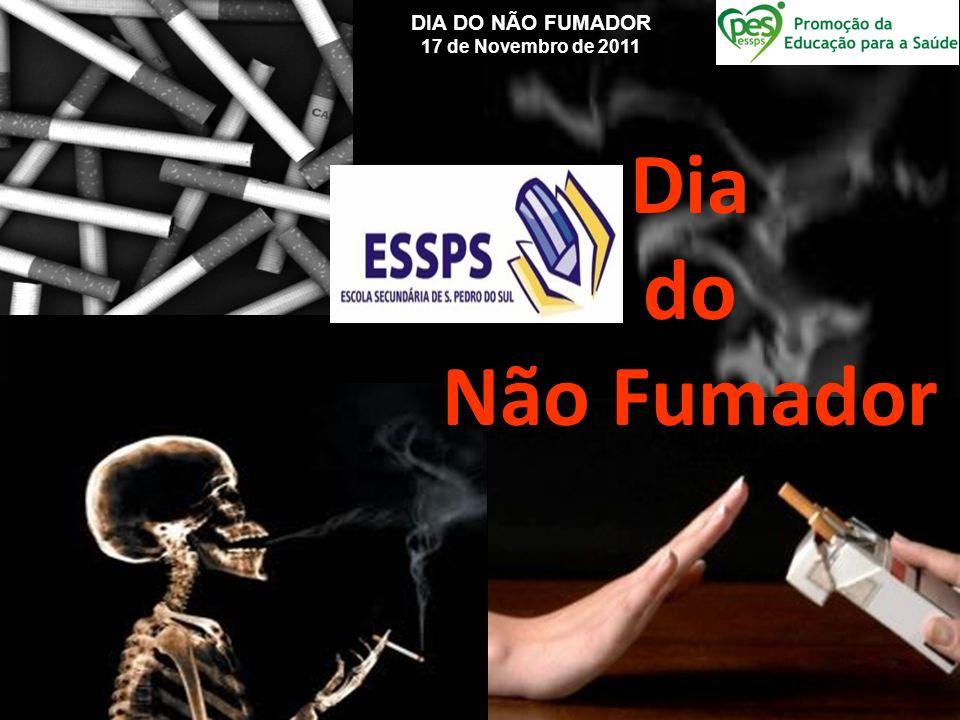 DIA DO NÃO FUMADOR 17 de Novembro de 2011 Dia do Não Fumador