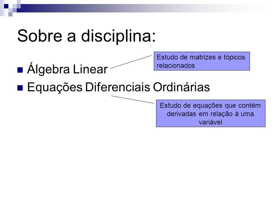 Estudo de equações que contém derivadas em relação à uma variável