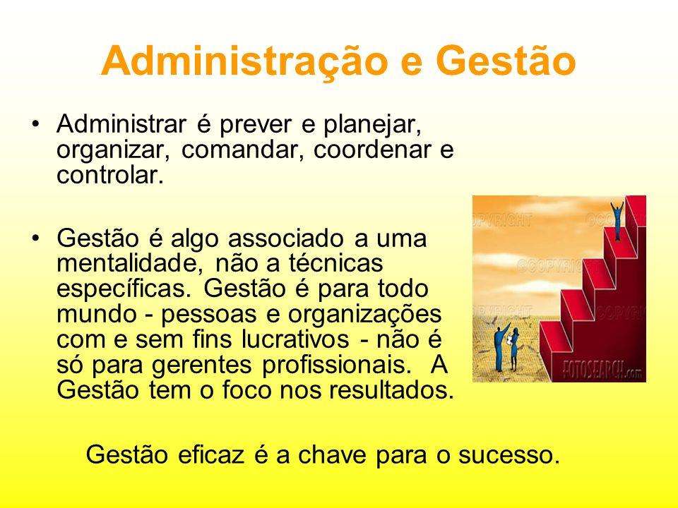 Administração e Gestão