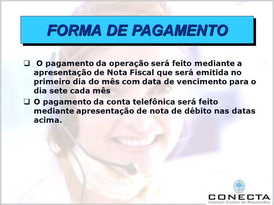 FORMA DE PAGAMENTO