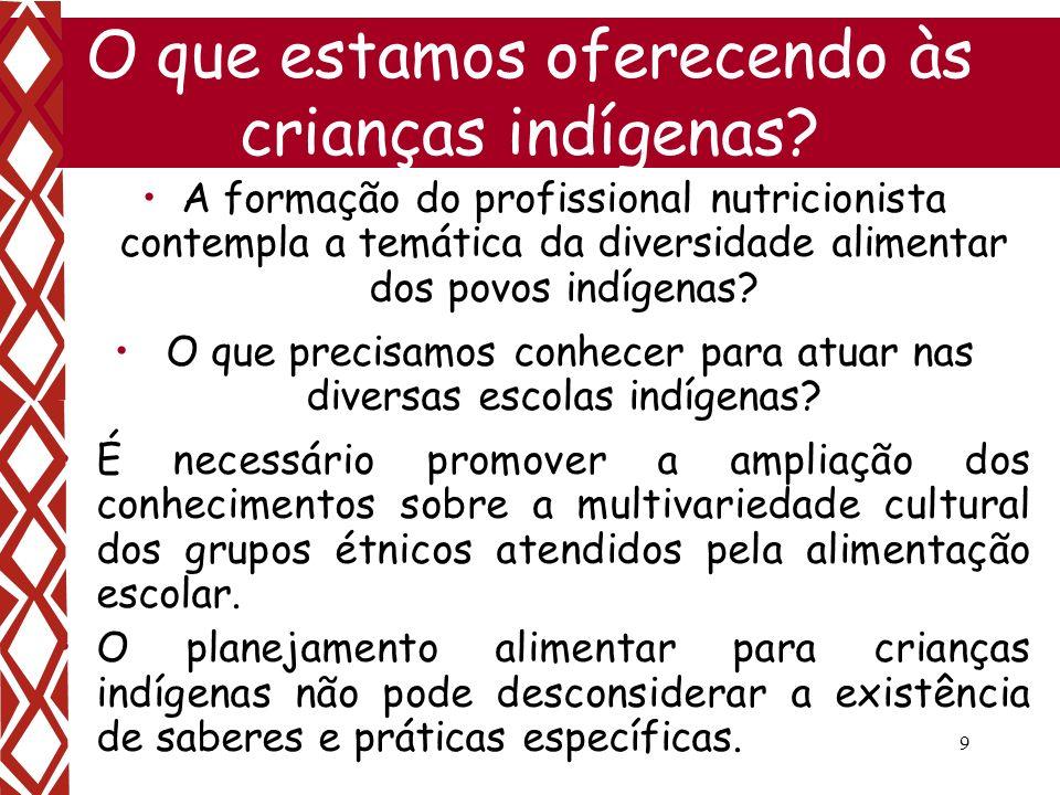 O que estamos oferecendo às crianças indígenas