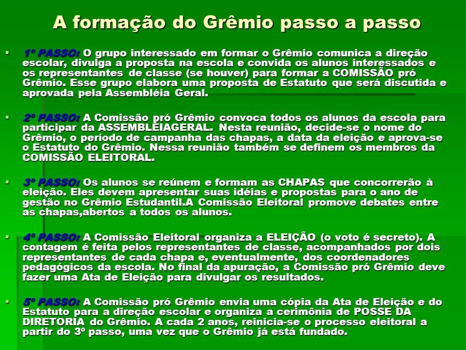 A formação do Grêmio passo a passo