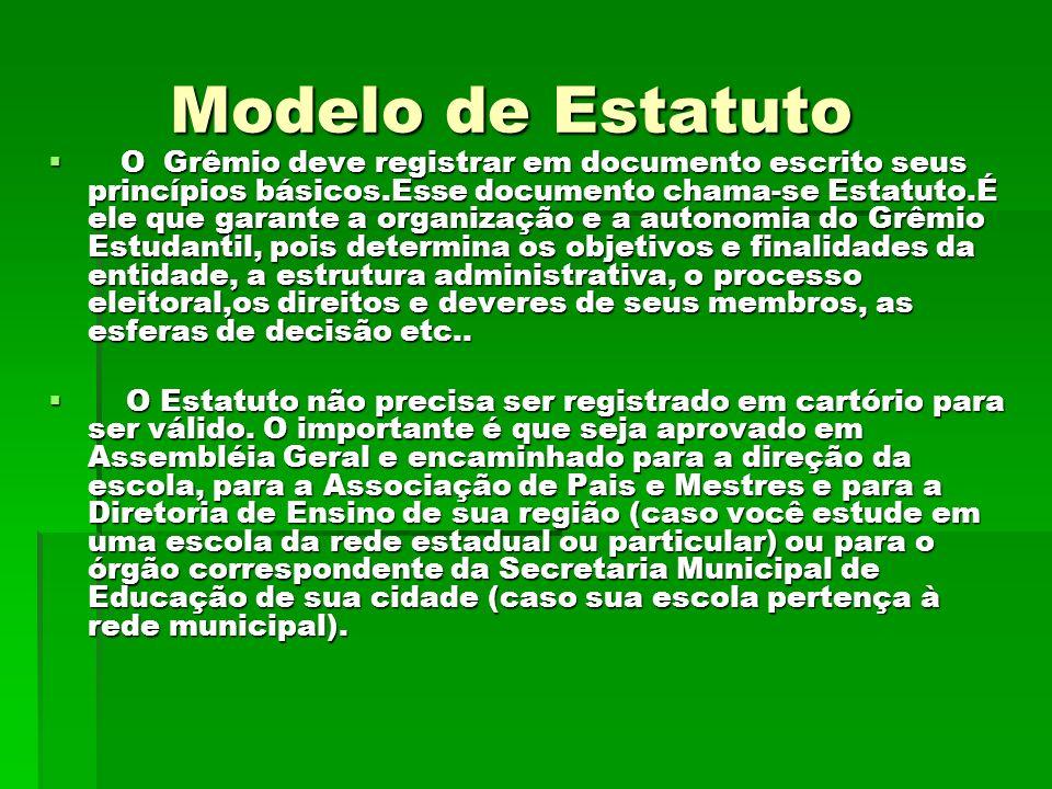 Modelo de Estatuto