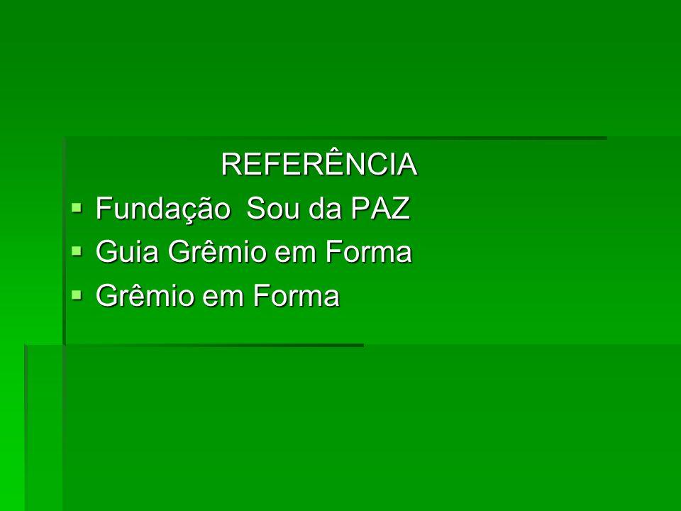 REFERÊNCIA Fundação Sou da PAZ Guia Grêmio em Forma Grêmio em Forma