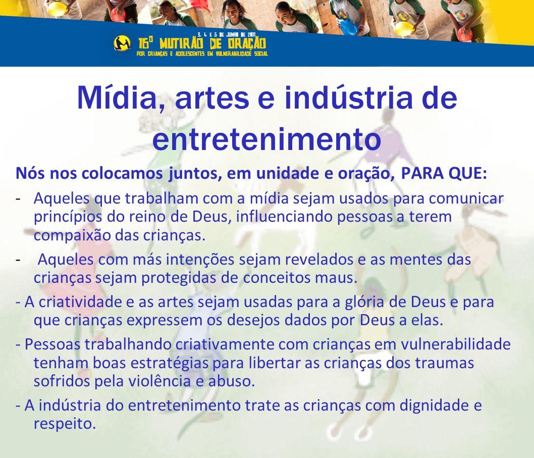 Mídia, artes e indústria de entretenimento