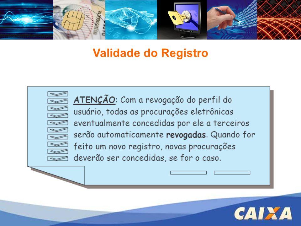 Validade do Registro