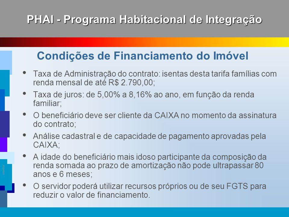 PHAI - Programa Habitacional de Integração