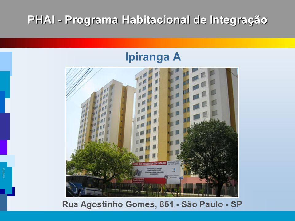PHAI - Programa Habitacional de Integração Ipiranga A