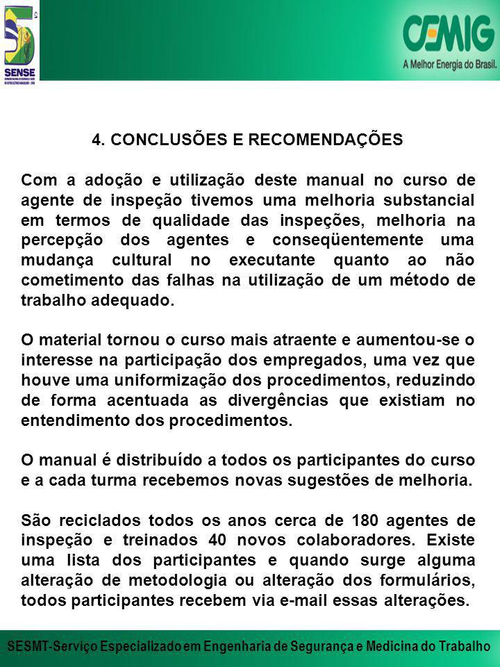4. CONCLUSÕES E RECOMENDAÇÕES