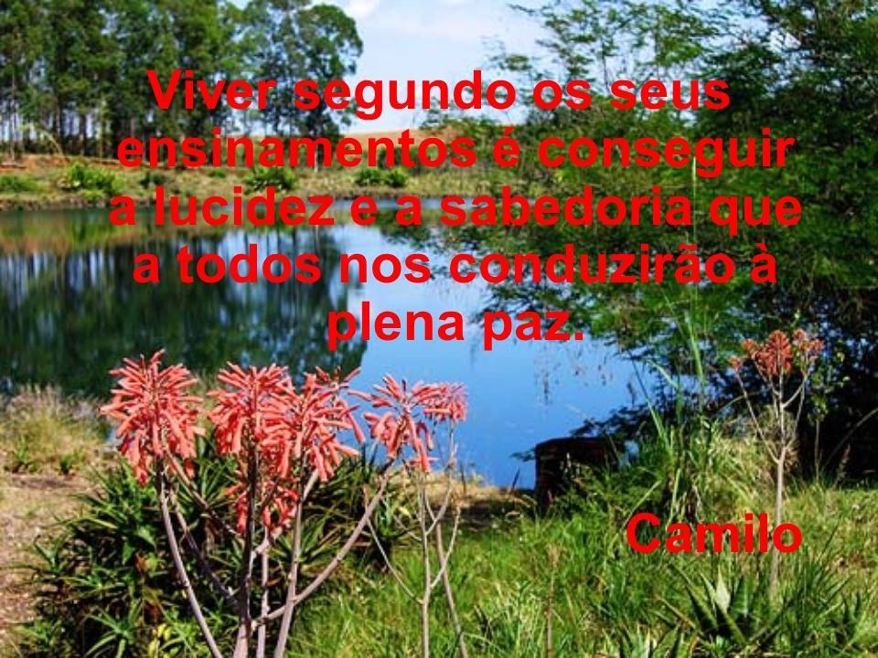 Viver segundo os seus ensinamentos é conseguir a lucidez e a sabedoria que a todos nos conduzirão à plena paz.