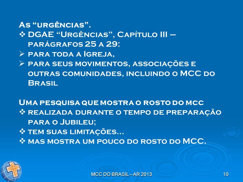 DGAE Urgências , Capítulo III – parágrafos 25 a 29: