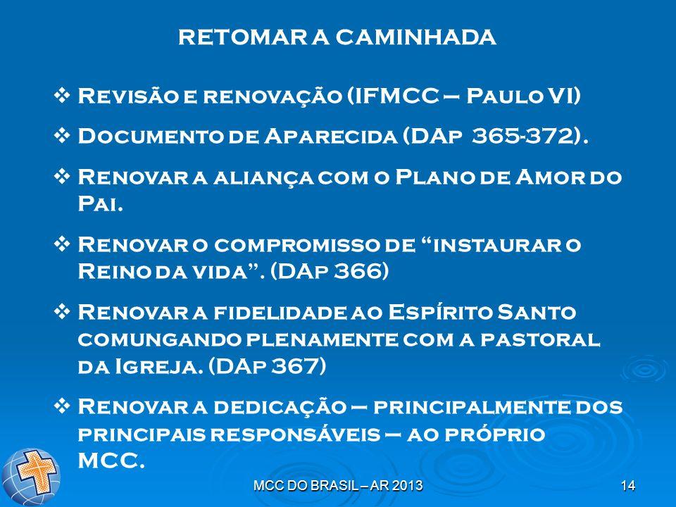 Revisão e renovação (IFMCC – Paulo VI)