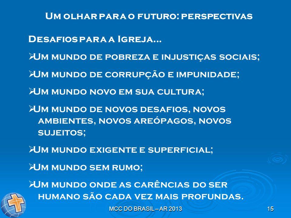 Um olhar para o futuro: perspectivas