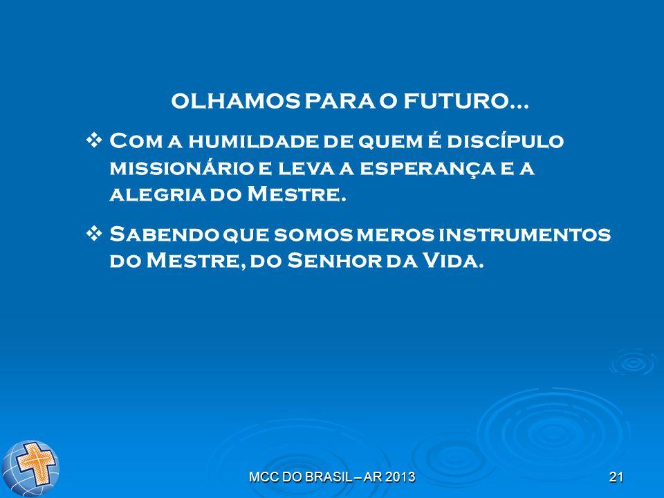 Sabendo que somos meros instrumentos do Mestre, do Senhor da Vida.