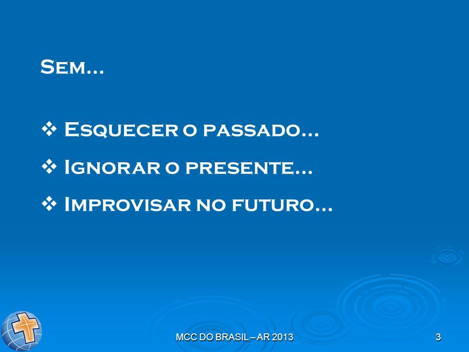 Sem... Esquecer o passado... Ignorar o presente...