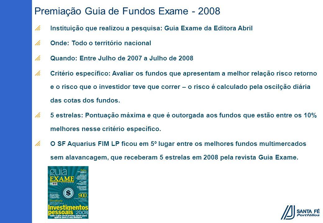 Premiação Guia de Fundos Exame - 2008