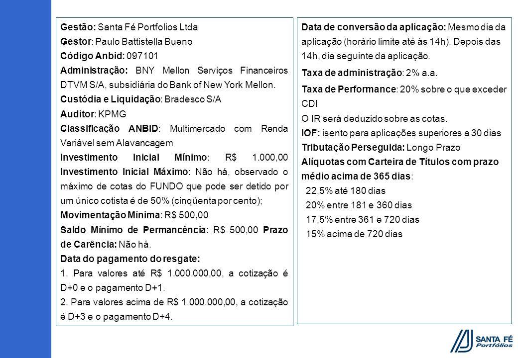 Gestão: Santa Fé Portfolios Ltda