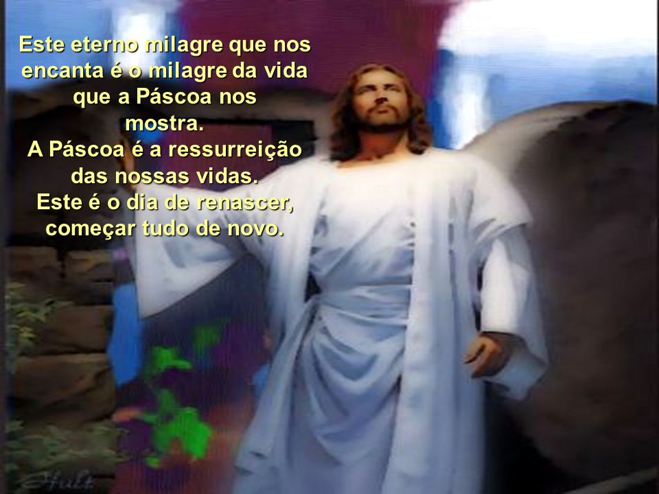 A Páscoa é a ressurreição das nossas vidas.