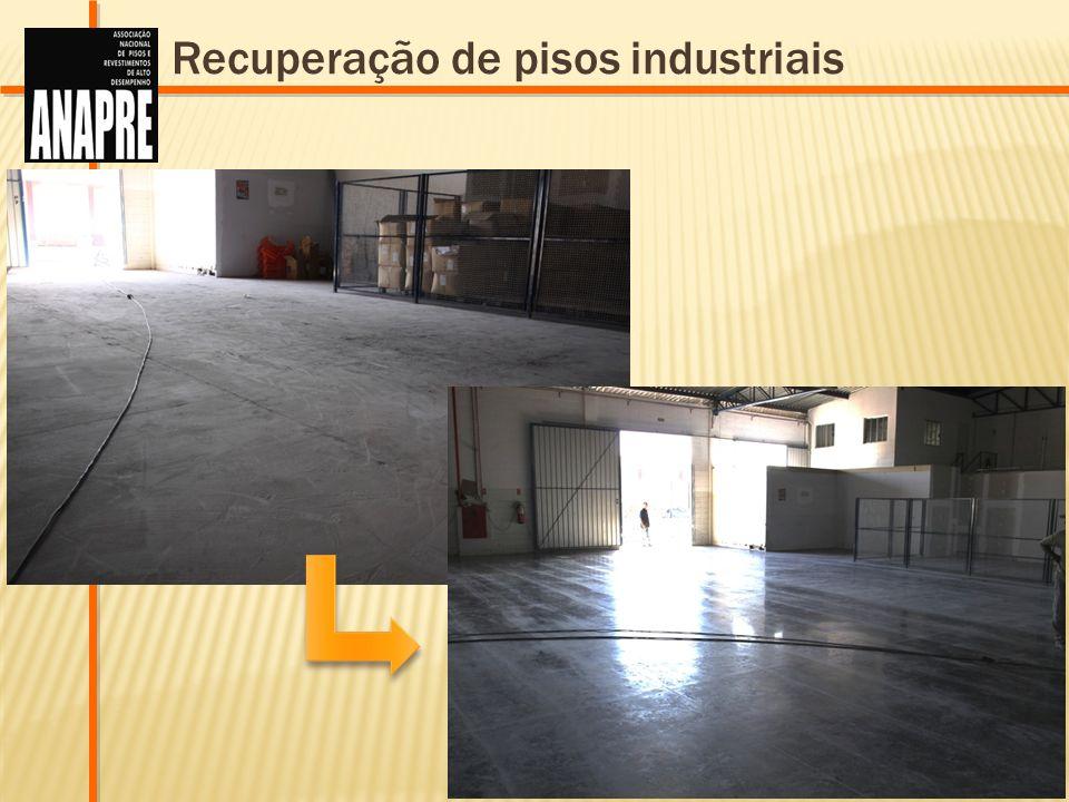 Recuperação de pisos industriais