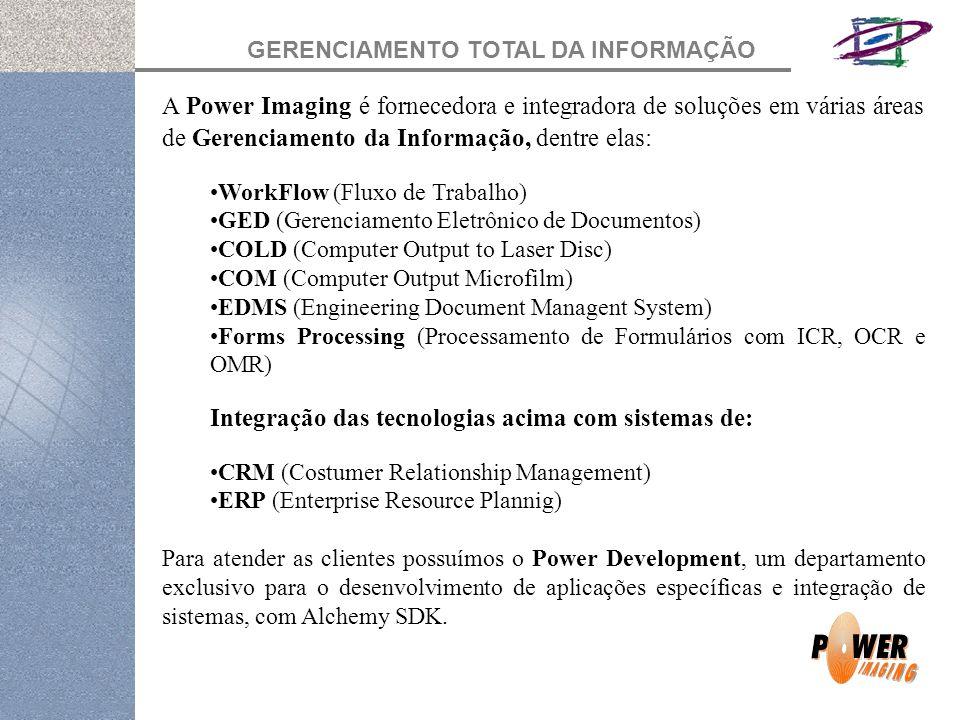 Integração das tecnologias acima com sistemas de: