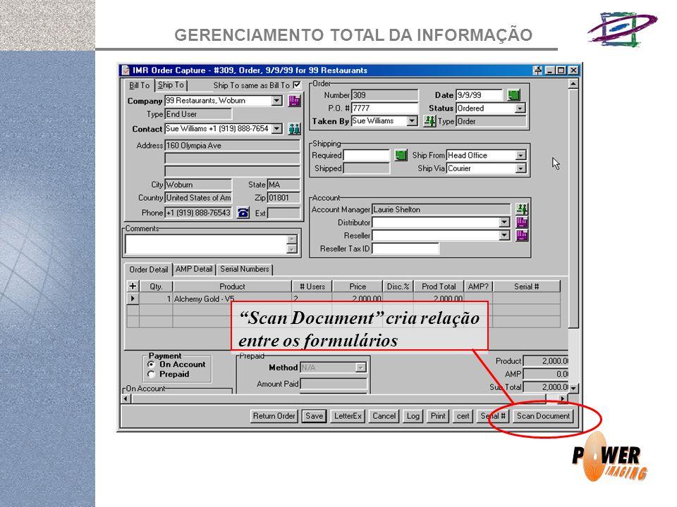 Scan Document cria relação entre os formulários