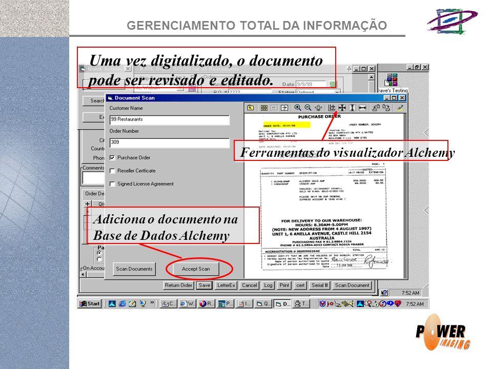Uma vez digitalizado, o documento pode ser revisado e editado.