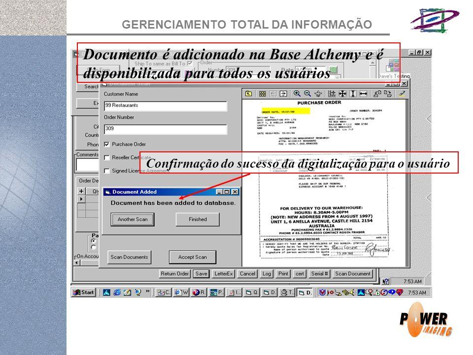 Documento é adicionado na Base Alchemy e é disponibilizada para todos os usuários