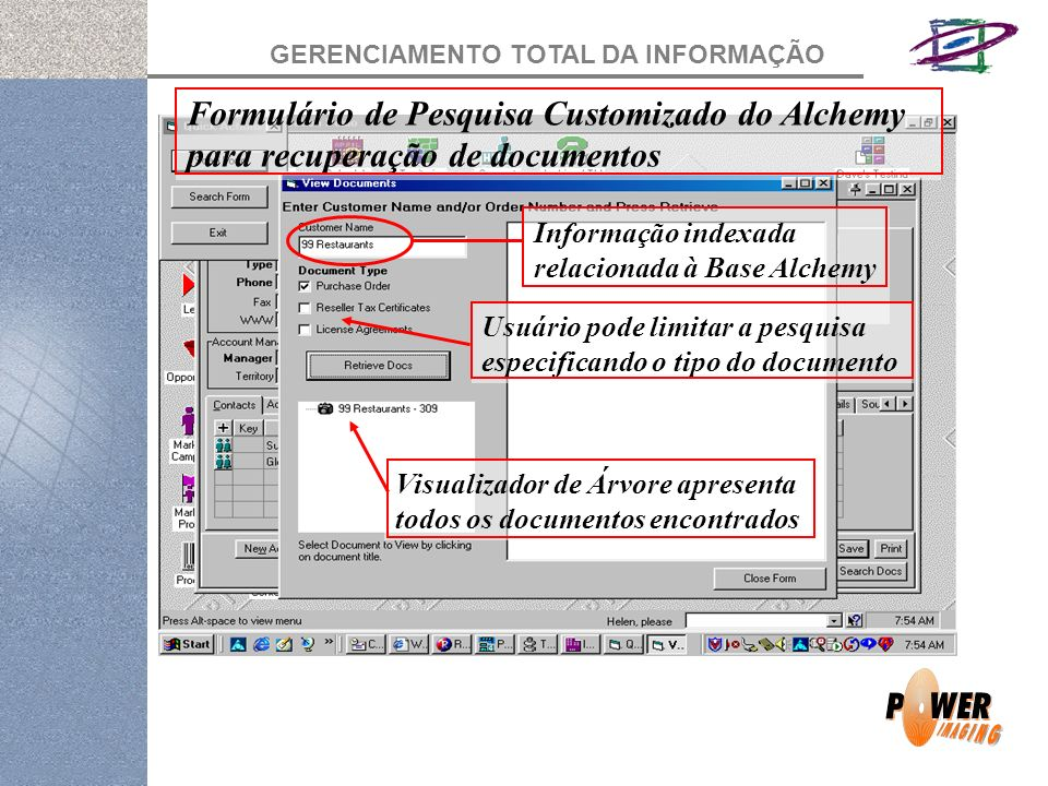 Formulário de Pesquisa Customizado do Alchemy para recuperação de documentos