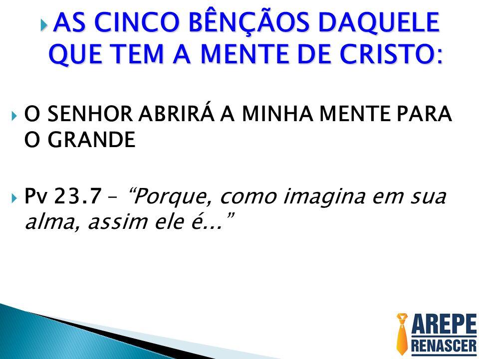 AS CINCO BÊNÇÃOS DAQUELE QUE TEM A MENTE DE CRISTO: