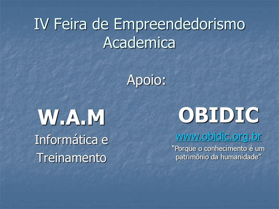 IV Feira de Empreendedorismo Academica