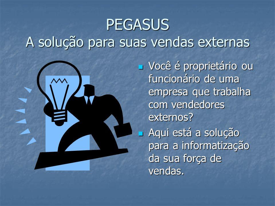 PEGASUS A solução para suas vendas externas