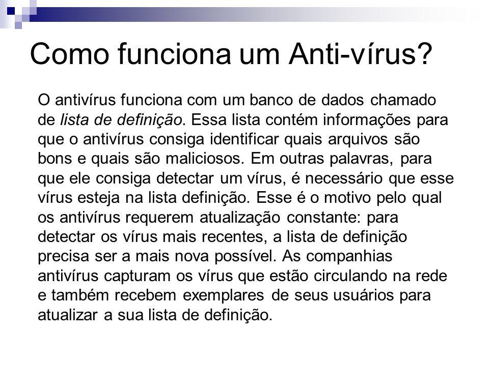 Como funciona um Anti-vírus