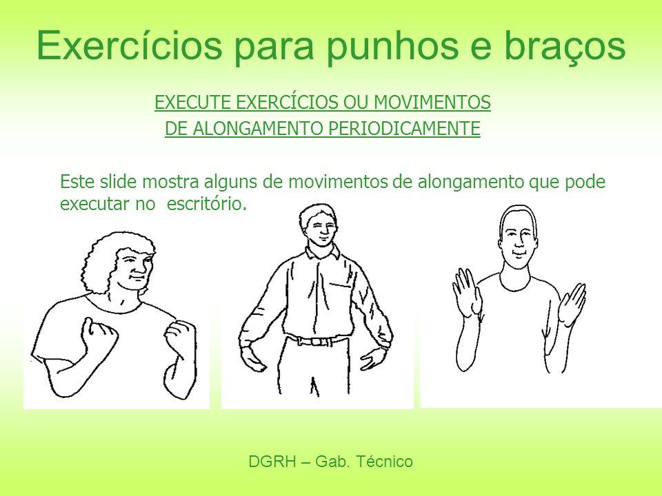 Exercícios para punhos e braços