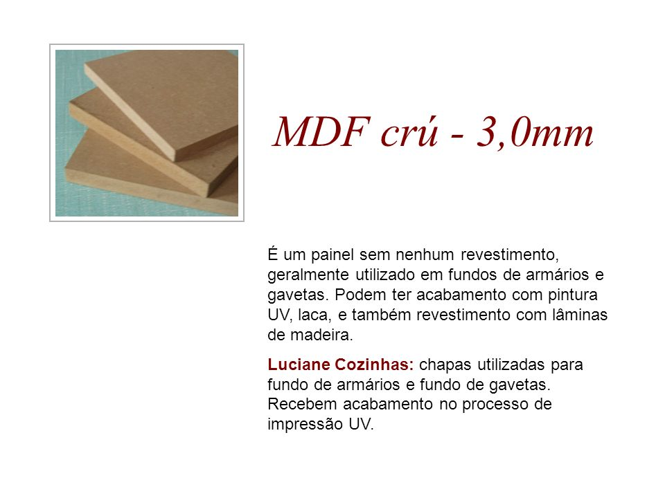 MDF crú - 3,0mm