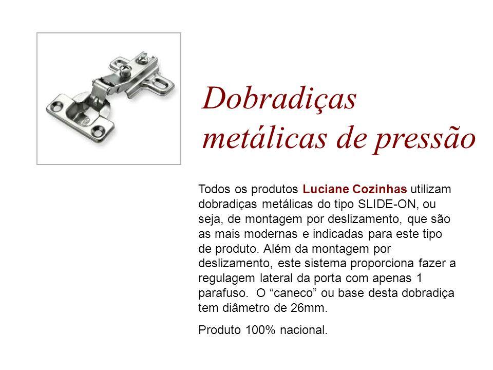 Dobradiças metálicas de pressão