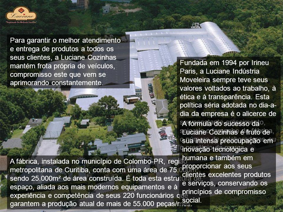 Para garantir o melhor atendimento e entrega de produtos a todos os seus clientes, a Luciane Cozinhas mantém frota própria de veículos, compromisso este que vem se aprimorando constantemente.