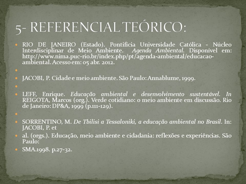 5- REFERENCIAL TEÓRICO: