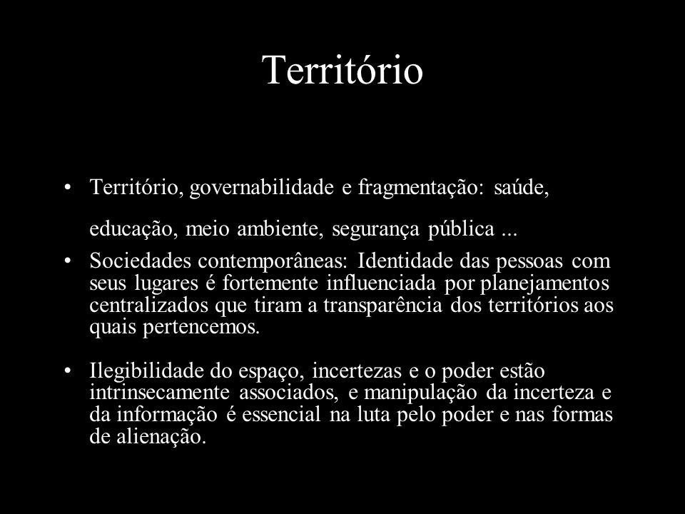 Território Território, governabilidade e fragmentação: saúde, educação, meio ambiente, segurança pública ...