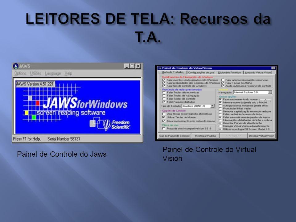 LEITORES DE TELA: Recursos da T.A.