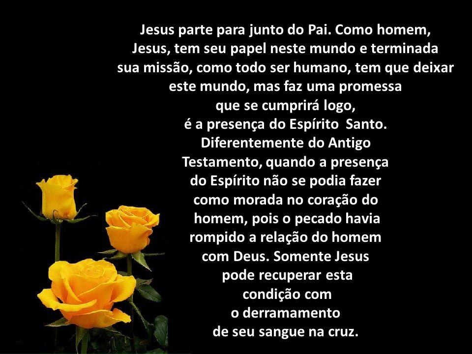 Jesus parte para junto do Pai. Como homem,