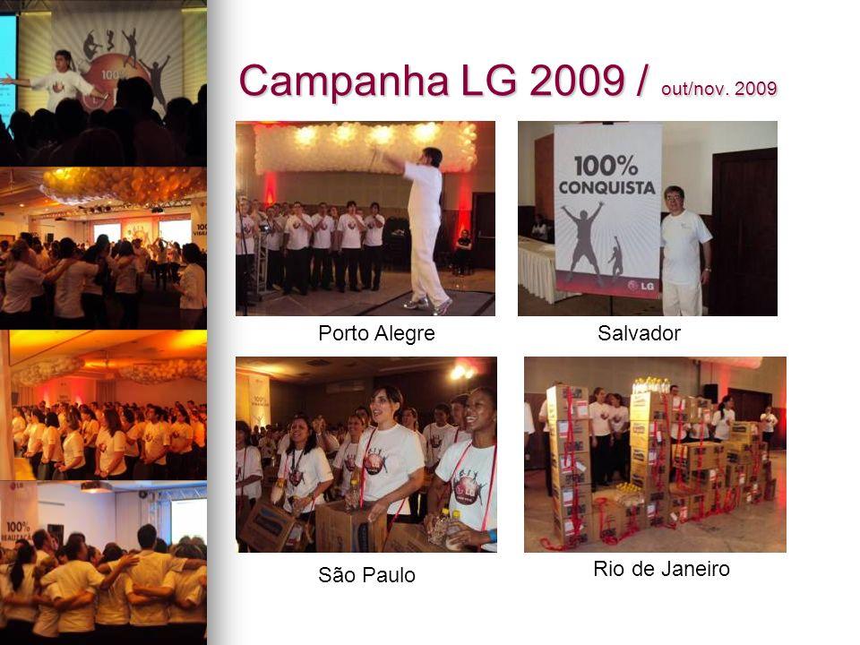Campanha LG 2009 / out/nov. 2009 Porto Alegre Salvador Rio de Janeiro