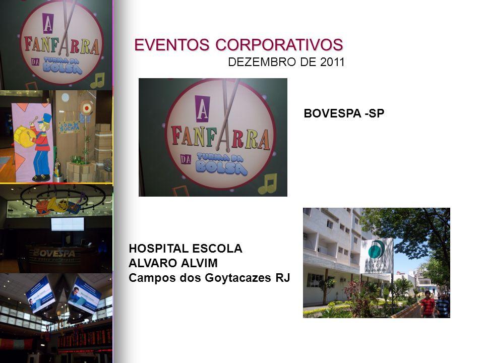 EVENTOS CORPORATIVOS DEZEMBRO DE 2011 BOVESPA -SP HOSPITAL ESCOLA