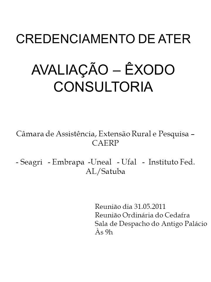 CREDENCIAMENTO DE ATER
