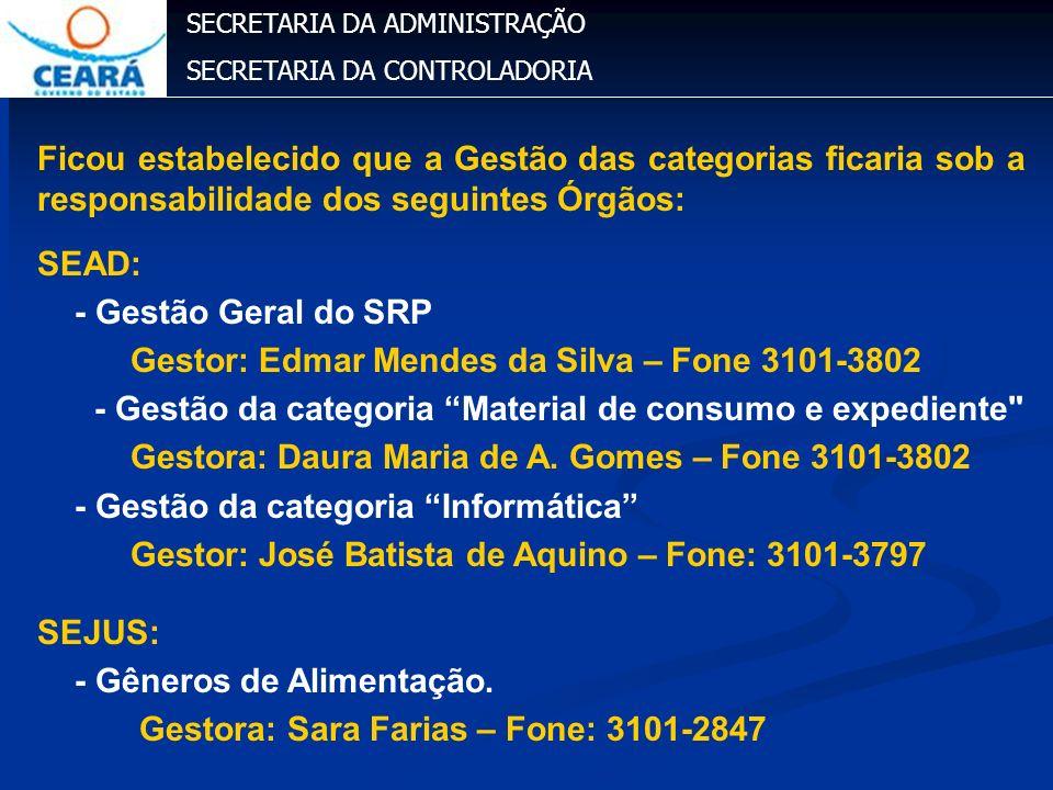 Gestor: Edmar Mendes da Silva – Fone 3101-3802