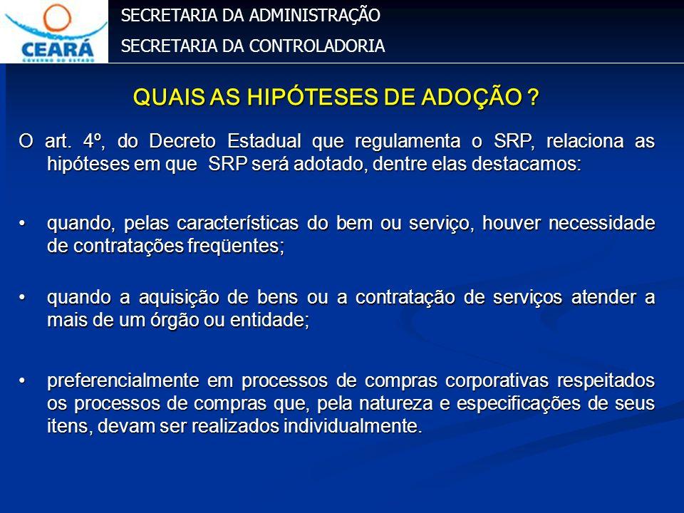 QUAIS AS HIPÓTESES DE ADOÇÃO