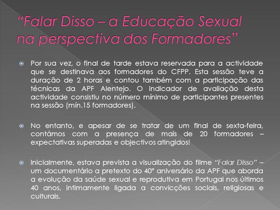 Falar Disso – a Educação Sexual na perspectiva dos Formadores