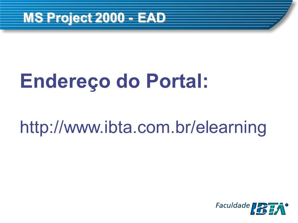 Endereço do Portal: http://www.ibta.com.br/elearning