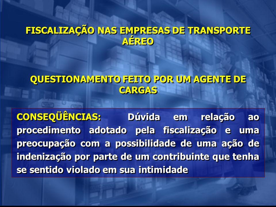 FISCALIZAÇÃO NAS EMPRESAS DE TRANSPORTE AÉREO