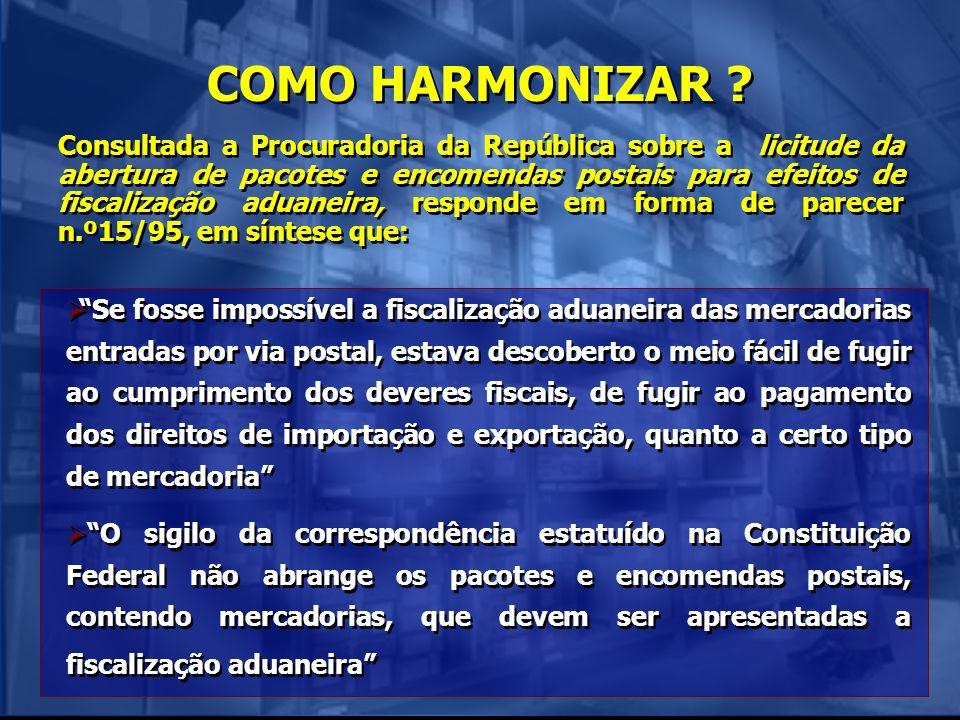 COMO HARMONIZAR
