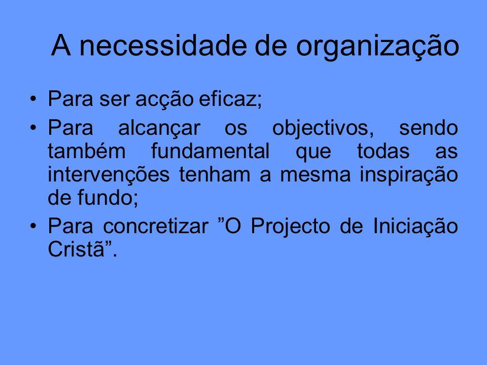 A necessidade de organização